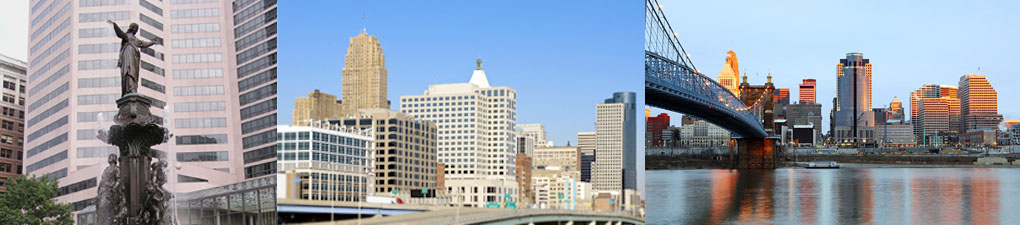 Cincinnati skyline - Fountain Square | Skyline | Brent Spence Bridge